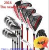 L'ensemble complet de 16 de bec pleins de golf hommes aériens de clubs de club avec libre réglé de golf en acier de sac de golf et de matériel de golf du câble R/S d'arbre de graphite de Headcovers envoient la cale de golf