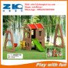 Casa plástica preescolar, equipo del patio en venta