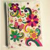 Cuaderno duro del diario de la cubierta de la pequeña impresión de la flor