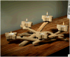 فراشة شمعة عصا يسكن حرفات خشبيّة ليّنة تجهيز تصميم