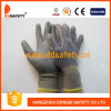 Серые перчатки покрынные PU работая Dpu115