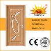 Puerta de madera de cristal interior del cuarto de baño del MDF del PVC de la venta caliente (SC-P161)