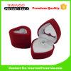 Rectángulo de joyería rojo en forma de corazón del terciopelo de Handmake de la mini venta caliente para el regalo