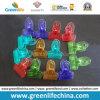 Efectos de escritorio transparentes plásticos de moda del clip de papel de los colores del nuevo diseño