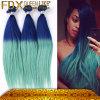 絶妙Hair BlueおよびGreenのモンゴル人Human Hair Straight Waveを引きToneなさい