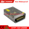 fuente de alimentación de la conmutación del transformador AC/DC de 12V 16A 200W LED Htp