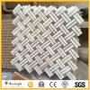 Mosaico de piedra de mármol blanco del modelo de China Carrara