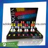 Pantalla de acrílico transparente del esmalte de uñas del maquillaje, estante de pared de moda del plástico del esmalte de uñas