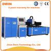 machine de découpage de laser de tube en métal de fibre d'acier inoxydable de 2mm