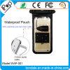 Sacchetto impermeabile del PVC con il trasduttore auricolare Jack ed il cavo interno