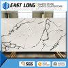 Pedra artificial de quartzo da cor de mármore branca barata de Calacatta para a decoração