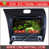 KIA K3/Forte/Cerato (AD-8050)のためのA9 CPUを搭載するPure Android 4.4 Car DVD Playerのための車DVD Player Capacitive Touch Screen GPS Bluetooth