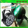 Het heldere 108W LEIDENE DMX van RGBW Vlakke Licht PAR64 van het Stadium