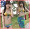 De Sexy Bikini van Swimwear 3PCS die in het Digitale Ontwerp van de Druk wordt geplaatst