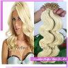 Blonde Keratine 100 tipte de Uitbreiding van het Menselijke Haar