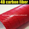 Alta qualità 1.52X30m 4D Carbon Fiber Vinyl Film