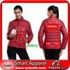 Mulheres Down Jacket com Battery System Electric Heating Clothing Warm Oubohk