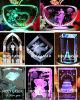 prix de machine de gravure du laser 3D en cristal