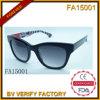 Armature matérielle d'acétate avec les lunettes de soleil polaroïd d'objectif (FA15001)