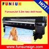 Impressora solvente ao ar livre da bandeira de alta velocidade do cabo flexível de Funsunjet Fs3202k 3.2m/10FT