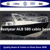 Barco de aluminio Alb580 de la cabina de la pesca