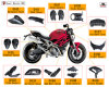 Carbono Fiber Motorcycle Parte para Ducati Monster 696
