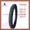 Lange Lebensdauer, Reifen 300-18, 300-17, 275-18, 250-17 des Qualitäts-Nylonmotorrad-6pr