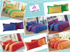 Two-Colour Series Reversible 5PCS Bedding Set Duvet Cover Falt Sheet Pillowcases