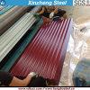 Feuille ondulée enduite enduite d'une première couche de peinture de plaque en acier de couleur dans les bobines