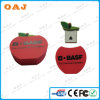 Подгоняйте USB Disk Red Apple Shape с Logo Print