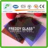 el vidrio modelado de la flora del color de 6m m/coloreó
