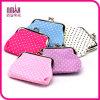 Le donne Caramella-Hanno colorato borsa della mini di tasto del cambiamento del raccoglitore dei puntini la piccola borsa delle monete