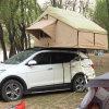 Geöffnetes Segeltuch-Gewebe-fasten faltendes Auto-Dach-Oberseite-Zelt der Baumwolle4wd