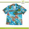 Katoenen van de Mensen van de douane het Manier Afgedrukte Overhemd van Aloha (KY-S001)