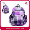 Purpurrotes Female Women Lady Girl Plaid Sport Backpack für College