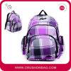 Пурпуровая женская повелительница Девушка Шотландка Спорт Backpack женщин для коллежа
