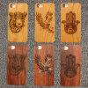 Cas en bois découpé normal en bois de téléphone mobile de cerise