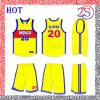 Highquality professionale Mens Polyester 100% Basketball Jersey e Shorts