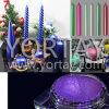 Pigmento violeta de la perla del uso de la vela de la cera de la tabla de cena