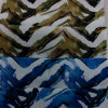 Tela de matéria têxtil impressa projeto da HOME do vestuário do poliéster da onda