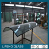 Curvado/dobrou o vidro isolado da vitrificação dobro com frame de alumínio
