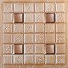 панель стены 1008-3 PU 3D кожаный для домашнего украшения