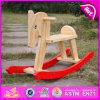 Brinquedo de madeira para miúdos, cavalo de balanço barato para crianças, venda por atacado ao ar livre W16D058 do cavalo de balanço do jogo 2015 engraçado do brinquedo do cavalo de balanço