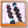 Pode ser tingido, o cabelo brasileiro do Virgin da onda do corpo