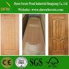 Piel de madera de la puerta de la chapa HDF