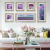 6PCS Group Decorative Purple Flowers Wall Painting (YS-014)