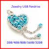 Movimentação do flash do USB da colar de Rosa da vara da memória da jóia