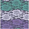 Tissu floral de lacet de corde de lacet français