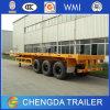 판매를 위한 3대의 반 차축 평상형 트레일러 콘테이너 트레일러 40FT 트레일러