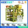 Máquina de fatura de tijolo contínuo da máquina do bloco de cimento Qtj4-25